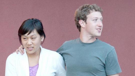 Mark Zuckerberg se svou manželkou Priscillou