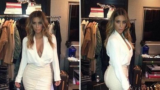 Kim Kardashian v náhradní krizové verzi.