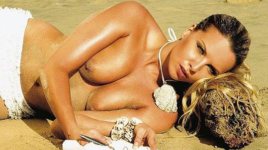Kateřina Kristelová v Playboyi, který nafotila před třemi roky.