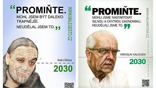 Ruda z Ostravy vytvořil parodii na plakát organizace Hnutí Duha.