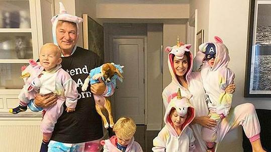 Baldwinovi s dětmi a psy