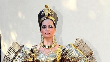 Lucie v kostýmu princezny Amneris.