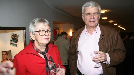 Petr Štěpánek se svou milovanou ženou Vlastou Janečkovou.