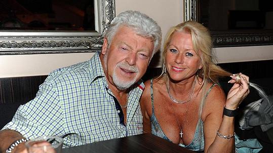 Milan Drobný s přítelkyní Helenou.