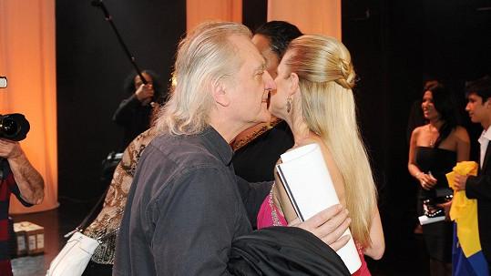 Bořek Šípek s expřítelkyní Leonou Machálkovou.