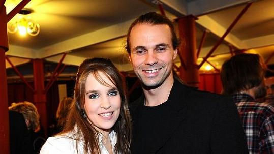 Představitelka Eponiny Vlaďka Skalová s přítelem Tomášem Berounem.