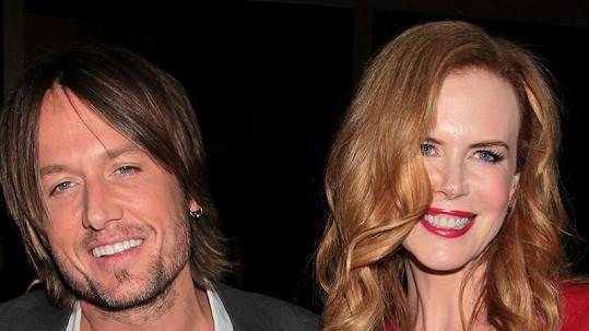 Herečka s manželem Keithem Urbanem.