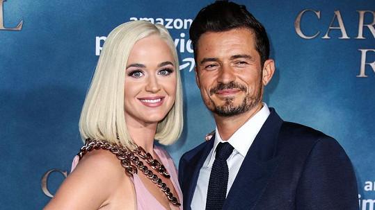 Katy Perry a Orlando Bloom se těší na první společné dítě.