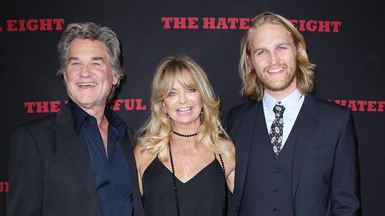 Goldie Hawn a Kurt Russell se synem Wyattem