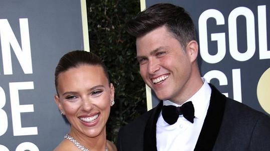 Scarlett Johansson se snoubencem Colinem Jostem