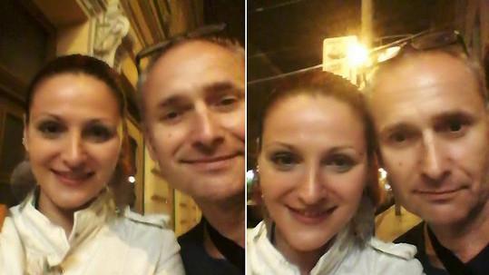 Kamila Suchánková a Richard Hes v době, kdy už byl choreograf nemocný.