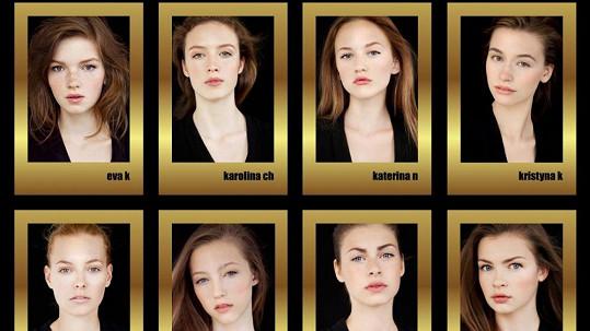 Osm českých finalistkek soutěže Elite Model Look.