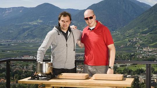 Ondřej a Filip si pobyt v Itálii užívají.