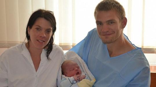 Ondřej Synek s manželkou Pavlou a synem Matyášem