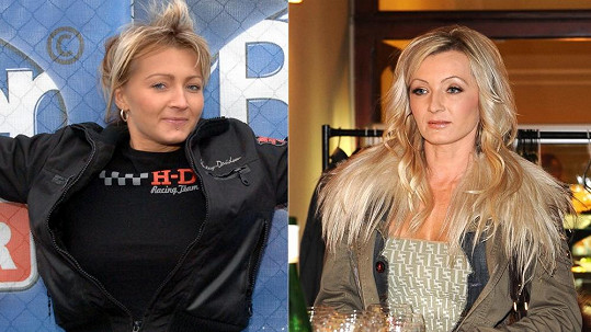 Renata Kajdžas v roce 2004 a dnes.