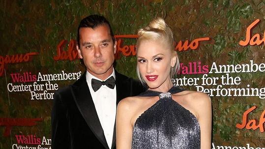 Gwen Stefani s manželem Gavinem Rosdalem