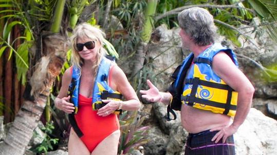 Kurt Russell a Goldie Hawn na dovolené v Mexiku.