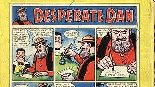 Jeden z komiksů, který vznikl ve skotském Dundee - Desperate Dan.