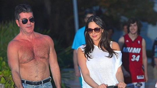 Simon Cowell se pěkně připekl na South Beach.