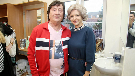 Petr Janda se svou ženou Alicí
