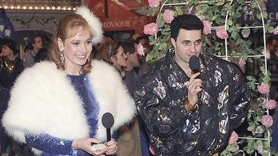 Martina Adamcová v době, kdy uváděla Hry bez hranic s Martinem Dejdarem.
