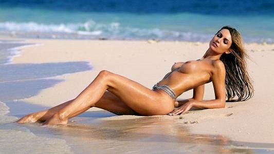 Rosanna Davison pózovala na Mauriciu.
