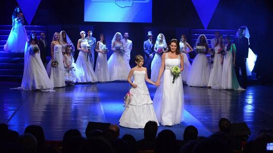 Lucie Králová ve svatebních šatech