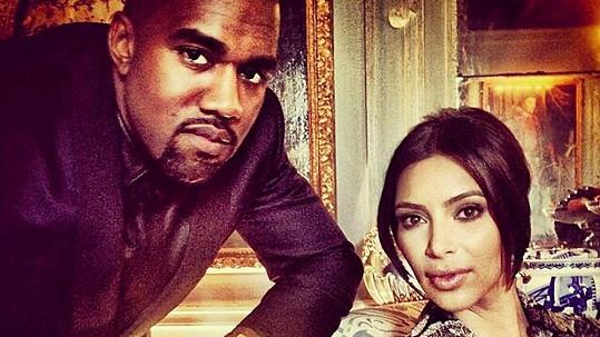 Novomanželé Kim Kardashian a Kanye West
