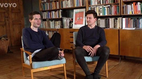 Matěj Stropnický a Daniel Krejčík (vlevo)