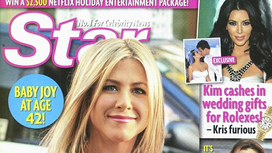 Jennifer Aniston na obálce časopisu Star.