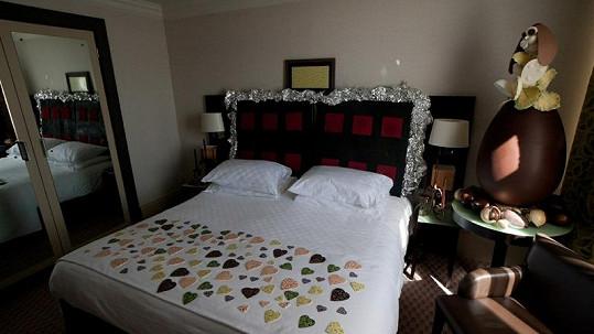 Čokoládový pokoj.