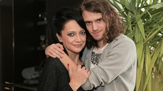 Lucie Bílá se synem Filipem. Slova o něm a pak o republice jí zavařila.