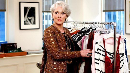 Meryl Streep jako Miranda Priestly v Ďábel nosí Pradu