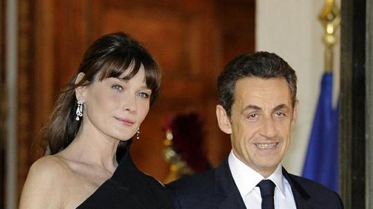 Carla Bruni s manželem Nicolasem Sarkozym