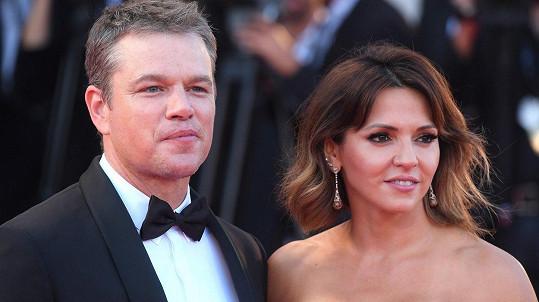 Matt Damon se pochlubil manželkou.