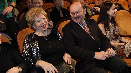 Libuše Švormová s manželem Janem Paterou