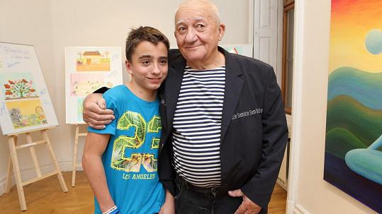 Zdeněk Srstka s vnukem Petrem
