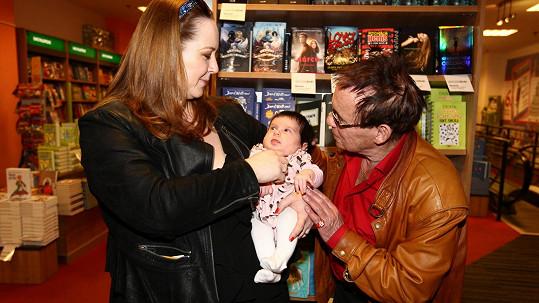 Jan Saudek s manželkou Pavlou a nejmladší dcerou Josefínou