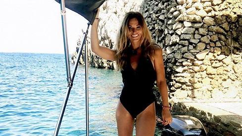 Petra Svoboda na výletě kolem ostrova Capri