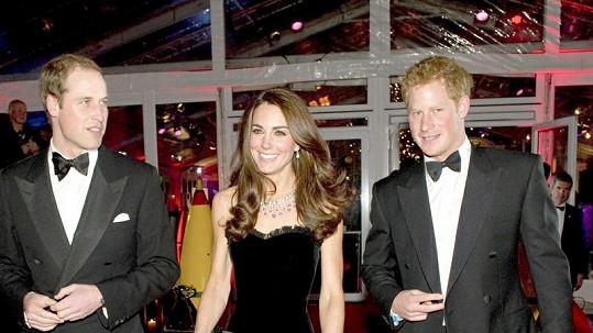 Princ William, Kate Middleton a princ Harry.