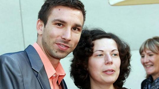 Petr Koukal s fanynkou.