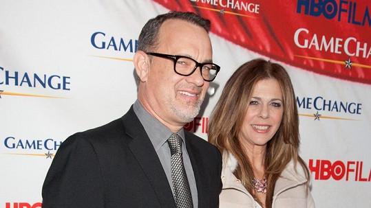 Tom Hanks s manželkou Ritou Wilson