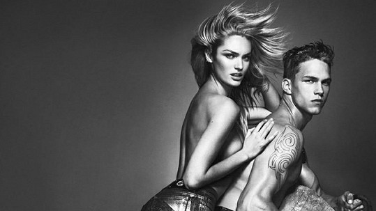 Candice Swanepoel s ruským modelem Dmitrijem Tannerem.