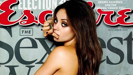 Sexy herečka na obálce časopisu Esquire.