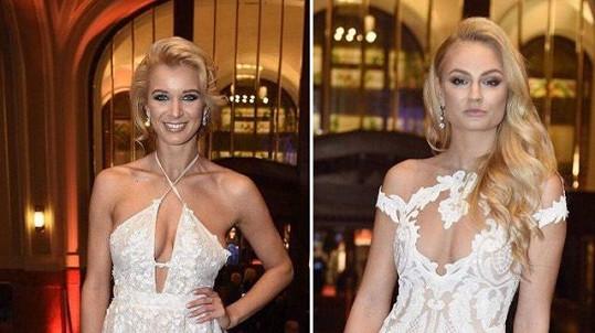 Gabriela Franková a Tereza Fajksová měly podobné šaty...