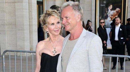 Sting s manželkou Trudie Styler