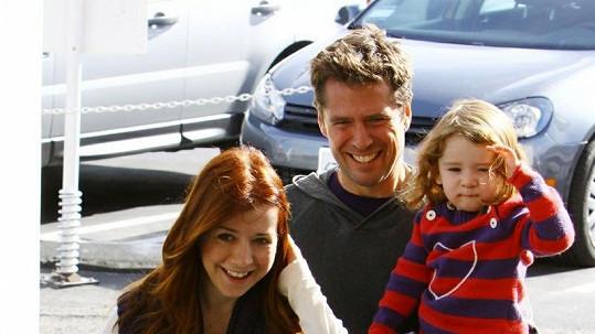 Alyson Hannigan s rodinou.