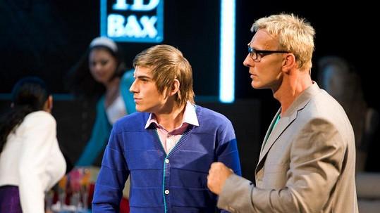 Martin Maxa a David Gránský v muzikálu Naháči.