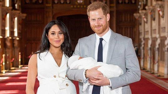 Princ Harry s manželkou Meghan a novorozeným synem Archiem
