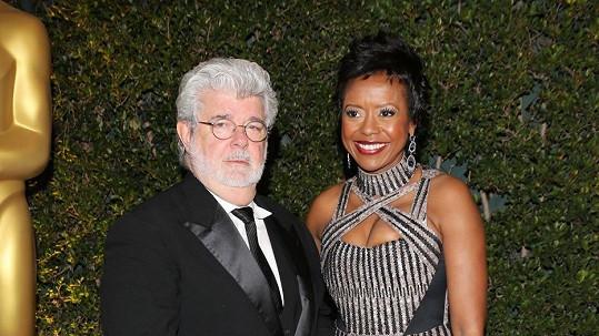 George Lucas s přítelkyní Mellody Hobson.